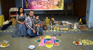 Shilpa with her family